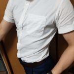 【マッチョ】鍛えた体を美しく見せる半袖ワイシャツ!【ワイシャツは絶対これ】